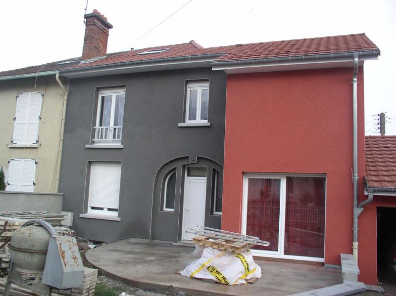 Brintinckulasuite fa ade finie for Peinture facade maison grise